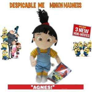 Despicable Me Minion Girl Agnes Plush Figure Toy 9 NWT