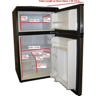 Mini Refrigerator & Freezer, Double Door Stainless Steel Energy Star