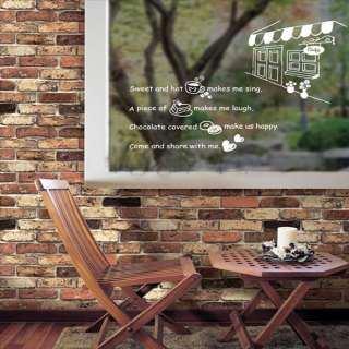 COFFEE & DOUGHNUT Wall Window Shop Decor Wall STICKER