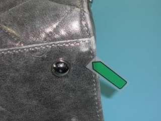 Michael Kors Nickel Leather Hamilton Quilt Large Tote Handbag Purse