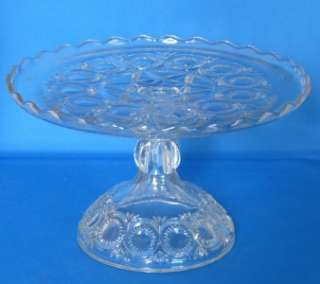 EAPG Cambridge Glass Pedestal Cake Stand Mignon Pattern