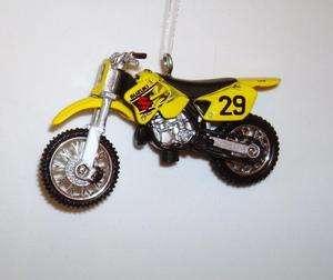 Suzuki RM 125 Dirt Bike Motorcycle Ornament Diecast