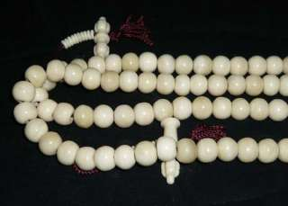 18 Tibetan Buddhist Yak Bone 108 Prayer Beads Mala