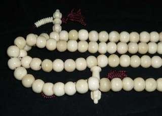 18 Tibetan Buddhist Yak Bone 108 Prayer Beads Mala