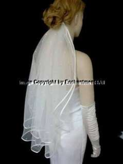 2T Ivory Bridal Wedding Veil Elbow Swarovski Crystal 20
