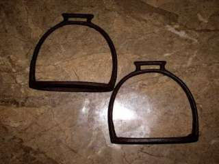 ANTIQUE MILITARY WW I BULGARIAN CAVALRY IRON STIRRUPS