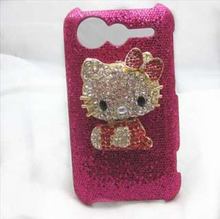 Bling Red hello kitty RED back Case Cover For HTC Incredible S