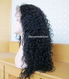 100% Indian Remy Human Hair Wig 18 Full Lace Curly