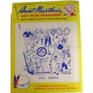Aunt Marthas Hot Iron Transfers 3776 Sports