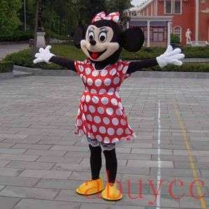 Minnie Mouse Mascot Costume Cosplay Cartoon Brand New