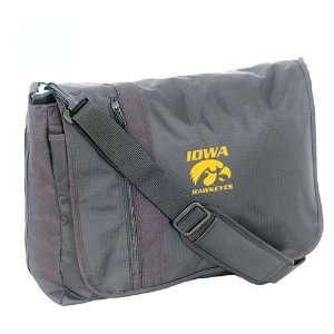 Mercury Luggage Iowa Hawkeyes Black Messenger Bag  Sports