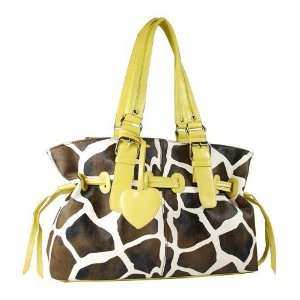 New Fashion Design Women Purse Handbag Giraffe Animal Print Toto Hobo
