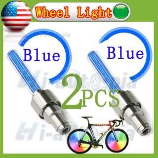New Car Bike Motorcycle Alarm Tyre Tire Wheel Led Light Lamp Blue