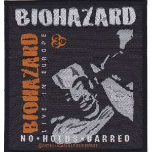Biohazard No Holds Barred Metal Music Woven Patch