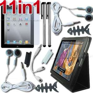 11 ACCESSORY LEATHER CASE+SCREEN COVER FOR APPLE IPAD 2