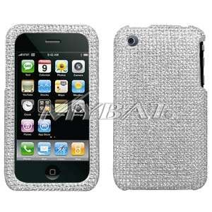 Silver Crystal Bling Case Cover for Apple iPhone 3G 3GS