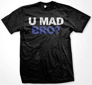 You Mad Bro? New Jersey Shore Funny TV Show Pop Culture Mens T Shirt