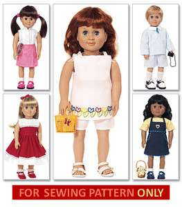 SEWING PATTERN MAKES DOLL CLOTHES FITS AMERICAN GIRL MOLLY~MCKENNA