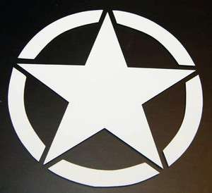 JEEP Willys STAR 1941 CJ Wrangler 4x4 US Army Decal Sticker PICK Your