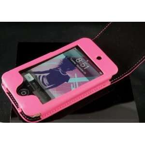 PINK Veritical Leather Case for Apple iTouch 2G/3G + Screen Protector