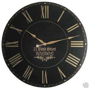 Large Wall Clock 36 Antique Gallery Black Big London