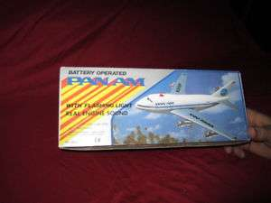 Pan Am Seven Seas Toys Airplane Model Battery Operated