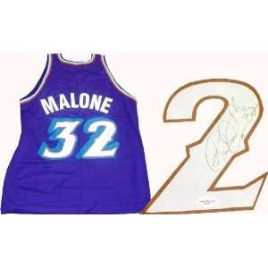 Karl Malone Autographed Utah Jazz Jersey (James Spence