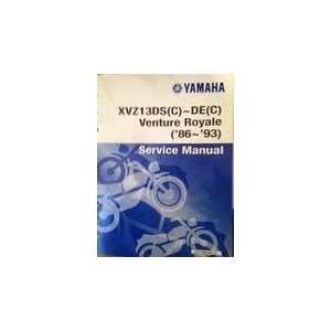 Yamaha XVZ13DS(C)~DE(C) Venture Royale (86~93) Service
