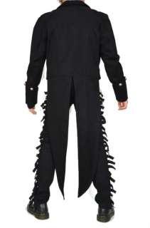 SHRINE GOTHIC VAMPIRE GOTH VICTORIAN UNDERWORLD TAIL COAT JACKET BLACK