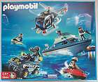 NEW Playmobil POLICE MEGA SET helicopter boat FREE SHIPPING