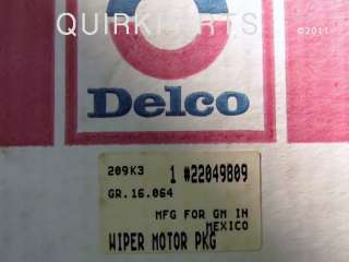 suburban blazer jimmy oem nos genuine acdelco part number 22049809