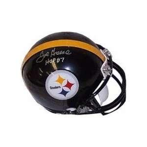 Joe Greene Autographed Pittsburgh Steelers Replica Mini Football