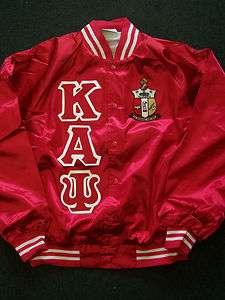 Kappa Alpha Psi Red Satin Baseball Jacket *NEW*