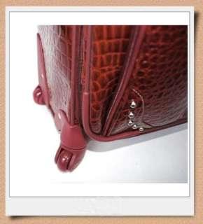 KATHY VAN ZEELAND CROC STYLE 21 Luggage w/ SPINNER