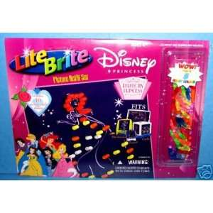 Lite Brite Disney Princess Picture Refill Set with BONUS