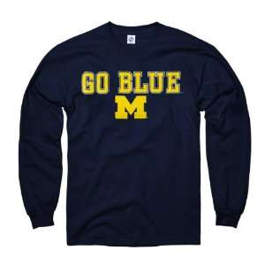 Wolverines Youth Navy Lingo Long Sleeve T Shirt