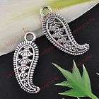 FREE SHIP 100pcs Tibetan Silver Feather Charms Pendants