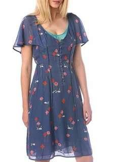NWT $78 Kimchi & Blue Retro 40s Capelet Dress ~ sz 10