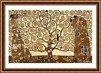 Large Framed Tree of Life Stoclet Frieze Gustav Klimt