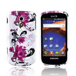 Pink Flowers on White Hard Plastic Case For Samsung Epic