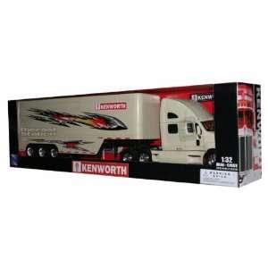 KENWORTH T2000 TRUCK TRAILER DIE CAST 1/32 CREAM NEW: Toys
