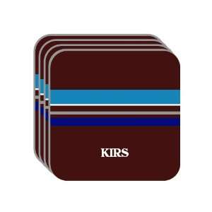 Personal Name Gift   KIRS Set of 4 Mini Mousepad Coasters (blue
