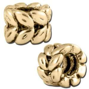 9mm Antique Gold Ring of Wheat Large Hole Bead Arts