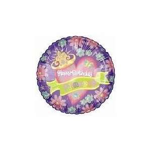 18 Happy Birthday Princess Mylar/Foil Balloon, Kids Party