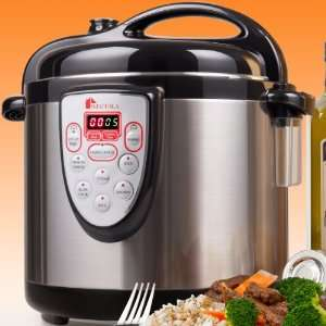 Secura 6 in 1 Electric Pressure Cooker 6qt, 18/10 Stainless Steel