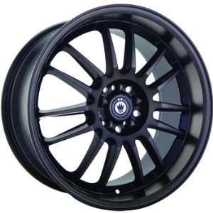 Konig Runaway 17x8 Black Wheel / Rim 5x100 with a 46mm Offset and a 73