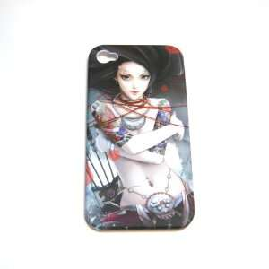 Tattoo Ghost Girl lady Art Painting picture Dull polish