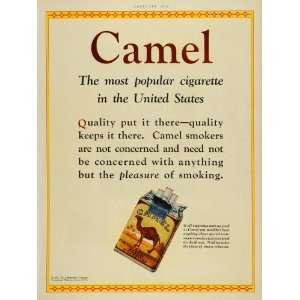 1928 Ad R J Reynolds Tobacco Pack Camel Cigarettes Smoking
