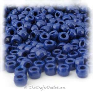 Plastic Round Opaque Pony Beads 6x9mm Royal Blue beads: Home & Kitchen