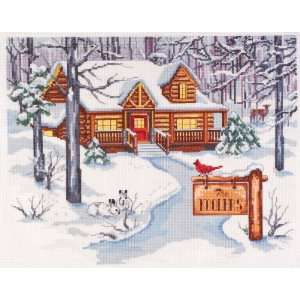 Cabin In The Woods Counted Cross Stitch Kit 14 Ct